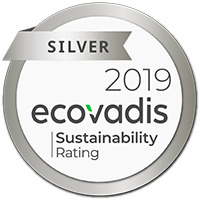EcoVadis Silver 2019 sustainability seal