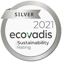 EcoVadis Silver 2021 sustainability seal
